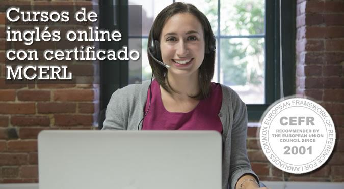Cursos de inglés online con certificado MCERL