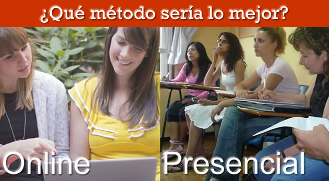 Aprender inglés online o presencial