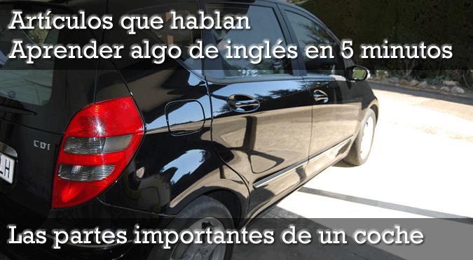 Los nombres de las partes de un coche – inglés en 5 minutos